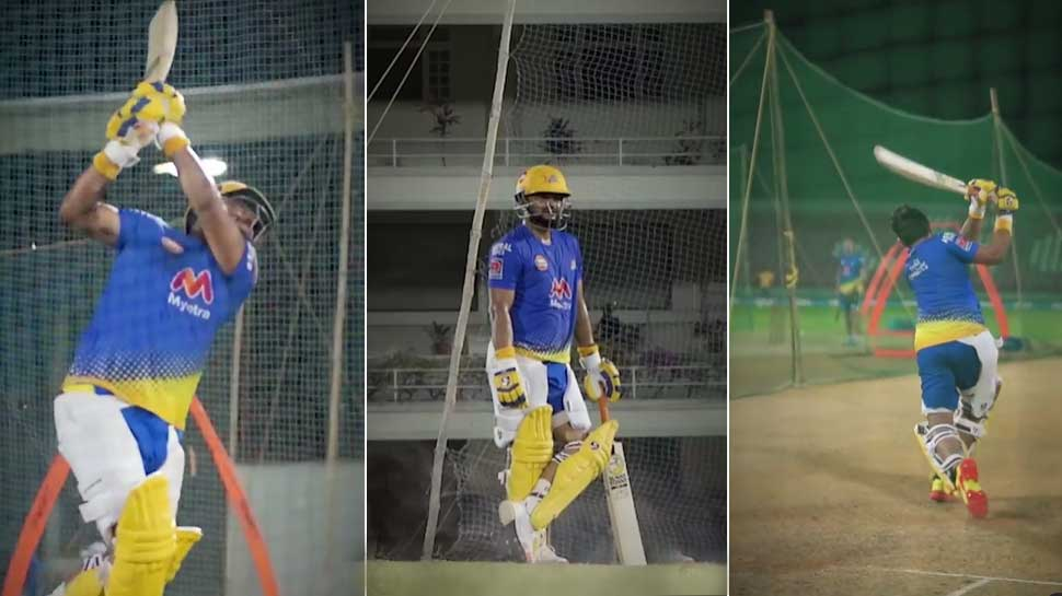 IPL 2021: Net Practice के दौरान Suresh Raina का Perfect Shot, देखिए Video