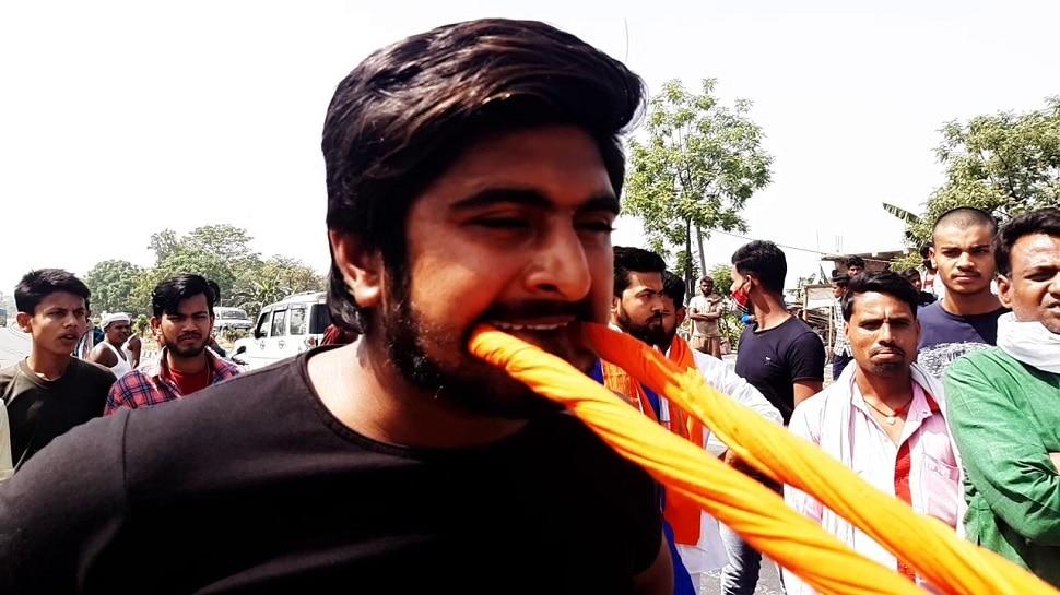 Bihar: वैशाली के सपूत रंजन कुमार का कारनामा, दांतों से खींचा ट्रक