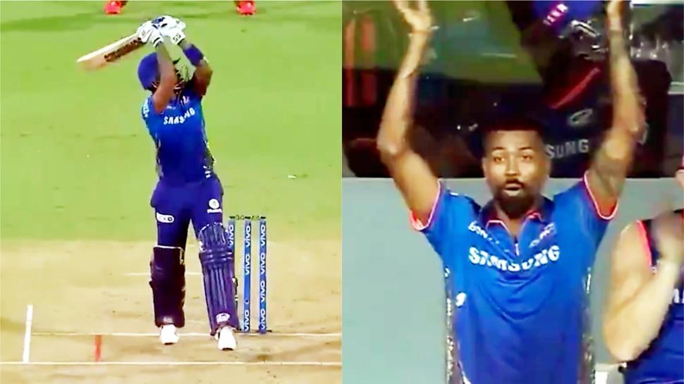 IPL 2021 MI vs KKR: Suryakumar Yadav का SIX देख खुला रह गया पांड्या का मुंह,  स्टेडियम के पार गिरी गेंद, देखें Video