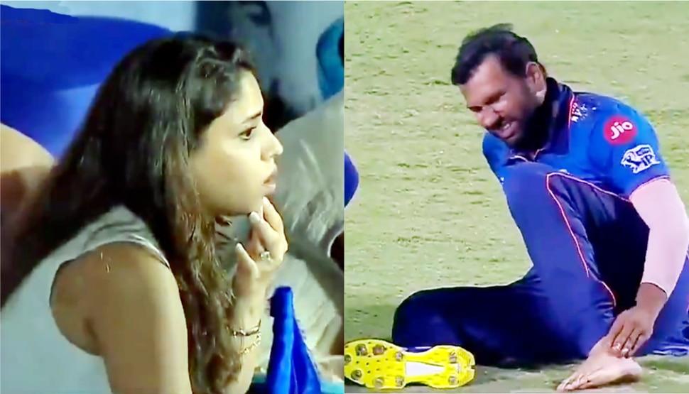 IPL 2021: Rohit Sharma को दर्द में देख वाइफ रीतिका ने दिया ऐसा रिएक्शन, Video हुआ वायरल