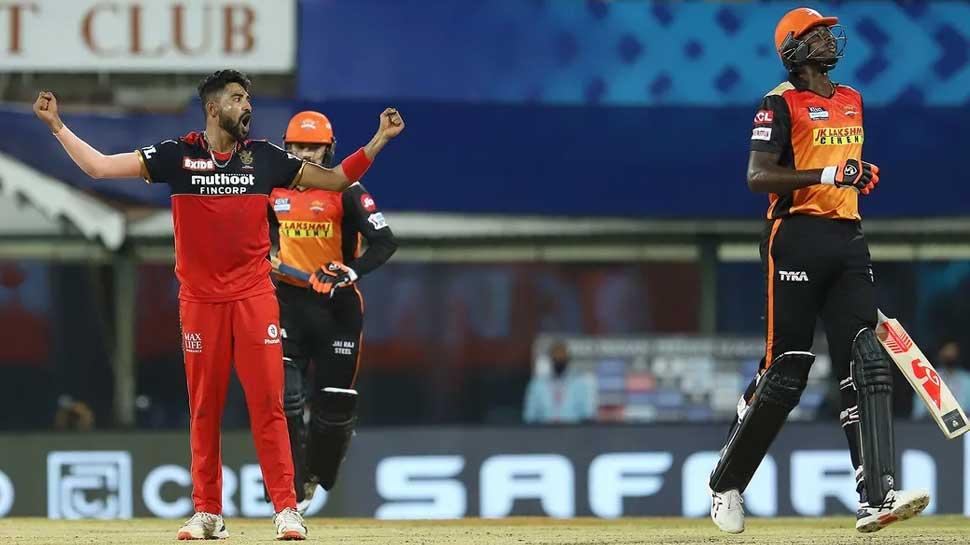 IPL 2021 SRH vs RCB: रोमांचक मुकाबले में बैंगलोर ने हैदराबाद को 6 रन से दी मात
