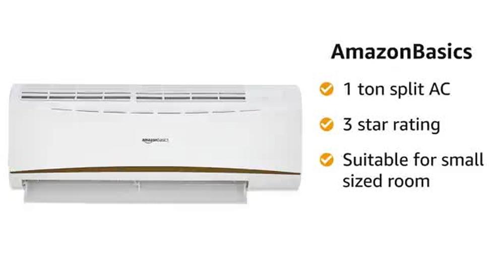 AmazonBasics 1 Ton 3 Star 2020 Split AC