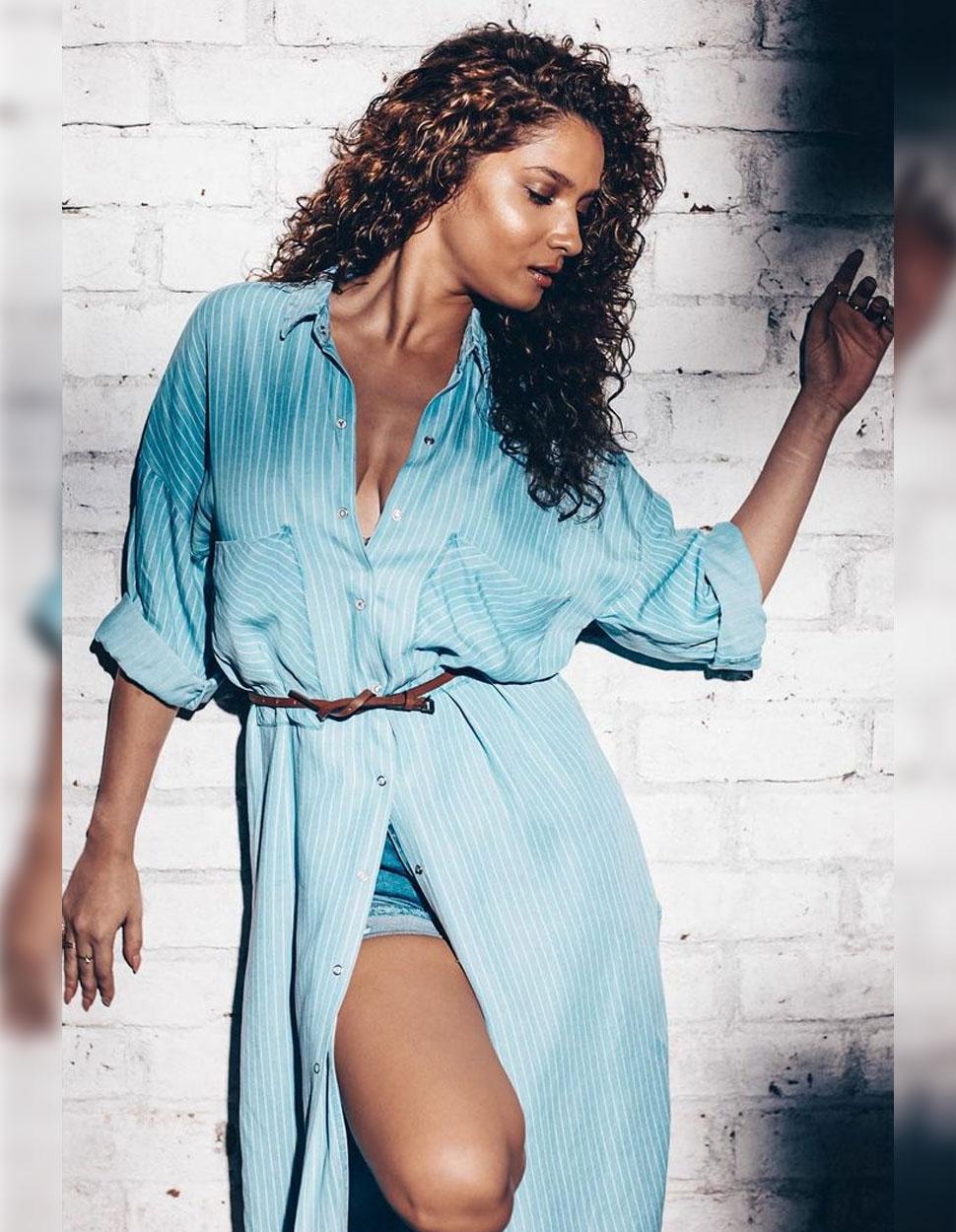 Ankita Lokhande in blue dress photos