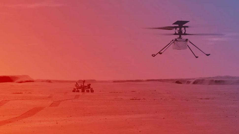 NASA Mars Mission: नासा ने मंगल पर रचा इतिहास, Ingenuity Helicopter ने दूसरे ग्रह पर पहली बार भरी उड़ान