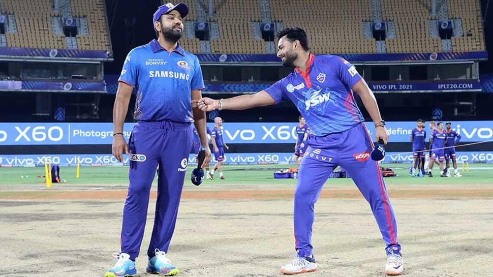 IPL 2021 DC vs MI: Rishabh Pant ने Toss के वक्त की शरारत, Rohit Sharma को लगाई गुदगुदी