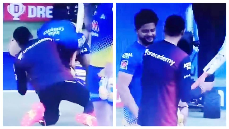 Suresh Raina touched Harbhajan Singh's leg, Bhajji reacted like this;  Video Viral |  Hindi news