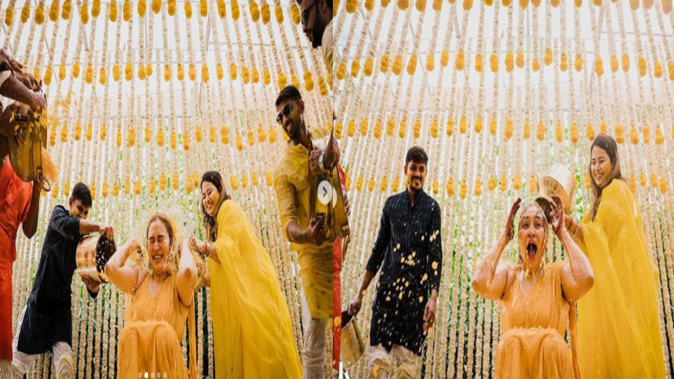 Haldi Ceremony of Jwala's marriage
