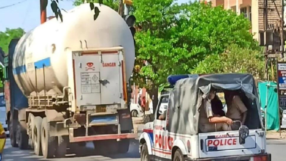 बोकारो से MP आ रहे ऑक्सीजन टैंकर की लोकेशन मिली, लखनऊ के पास लूट की खबर निकली अफवाह