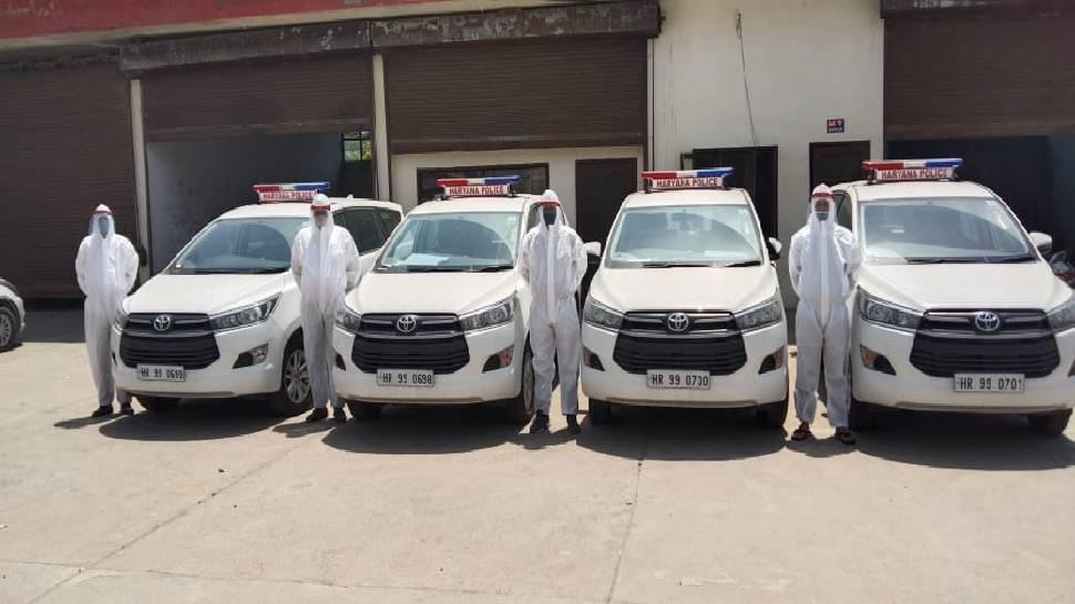 नेक पहलः कोरोना संक्रमितों की मदद के लिए आगे आई हरियाणा पुलिस, 440 एसयूवी गाड़ियां आपातकालीन सेवा के लिए 24 घंटे रहेंगी उपलब्ध