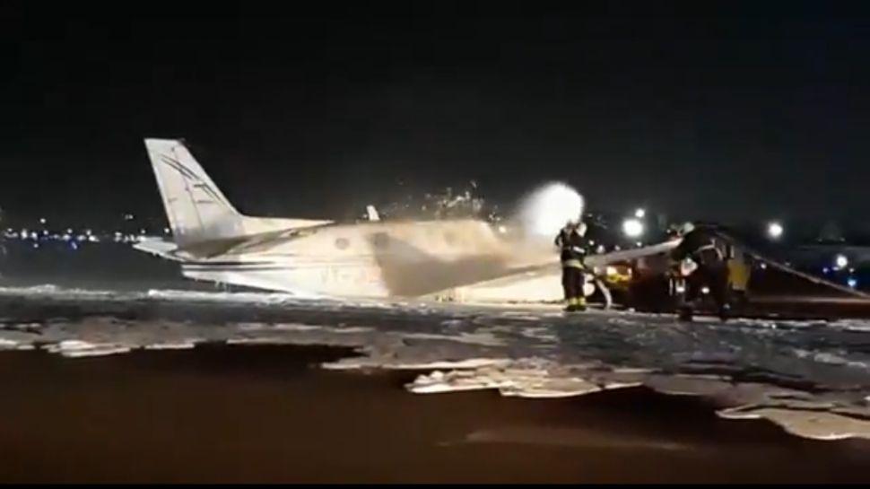 नागपुर से उड़े Air Ambulance का पहिया एयरपोर्ट पर ही गिरा, मुंबई में हुई सुरक्षित लैंडिंग