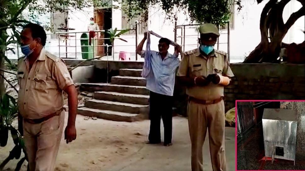 मथुरा: झाड़ी वाले हनुमान मंदिर में बदमाशों ने की जमकर लूटपाट, कई संत मिले बेहोश, DVR भी गायब