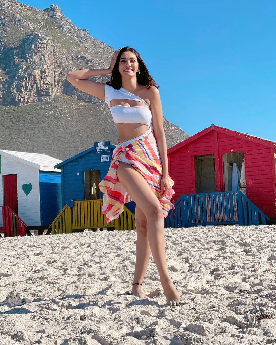 aastha gill in beach wear