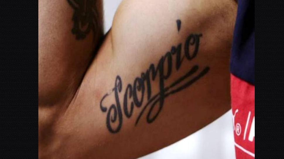 Virat Kohli Scorpio tattoo