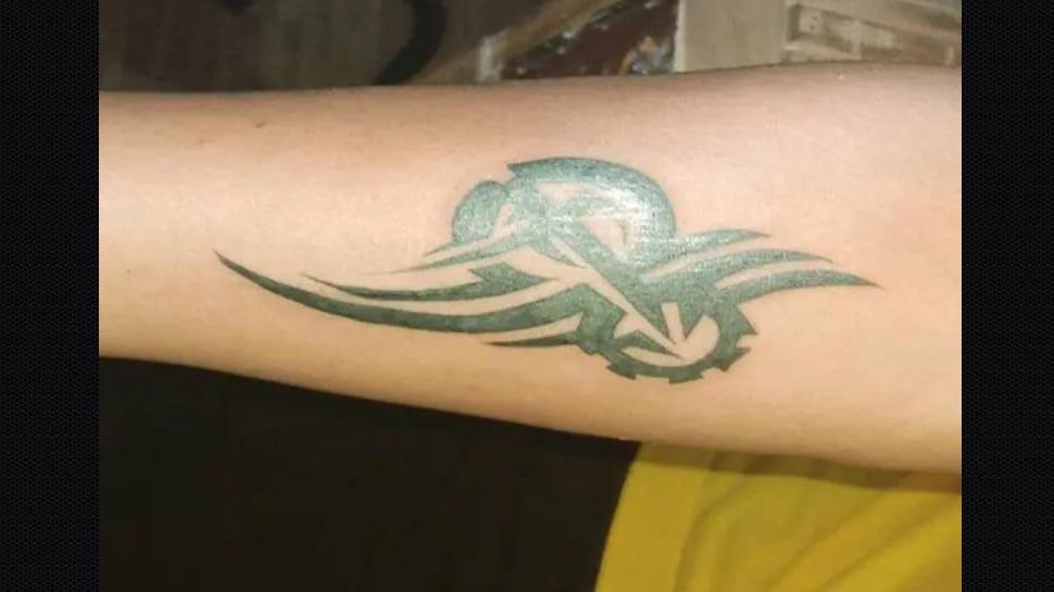 Virat Kohli tribal tattoo