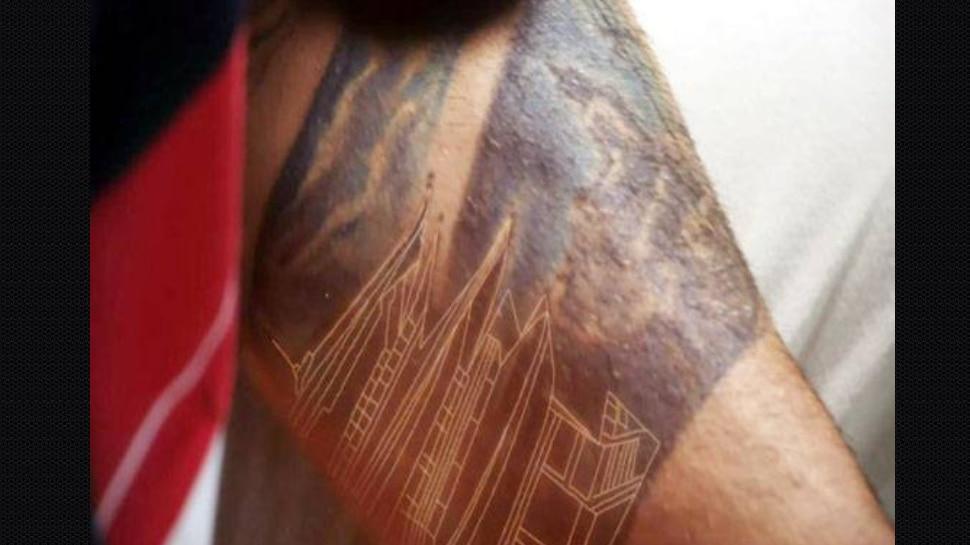 Virat Kohli Monastery Tattoo On Shoulder