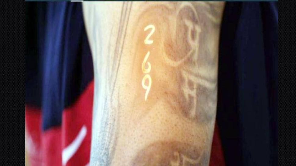 Virat Kohli 269 tattoo