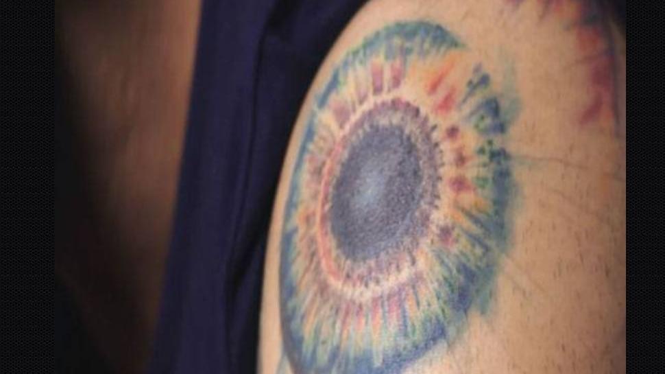Virat Kohli god eye tattoo
