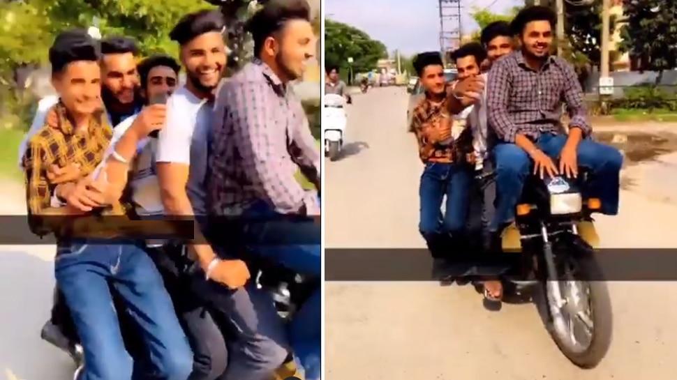 7 लोगों को बैठाकर शख्स ने तेज रफ्तार में दौड़ाई बाइक, 60 लाख से ज्यादा बार देखा गया Video