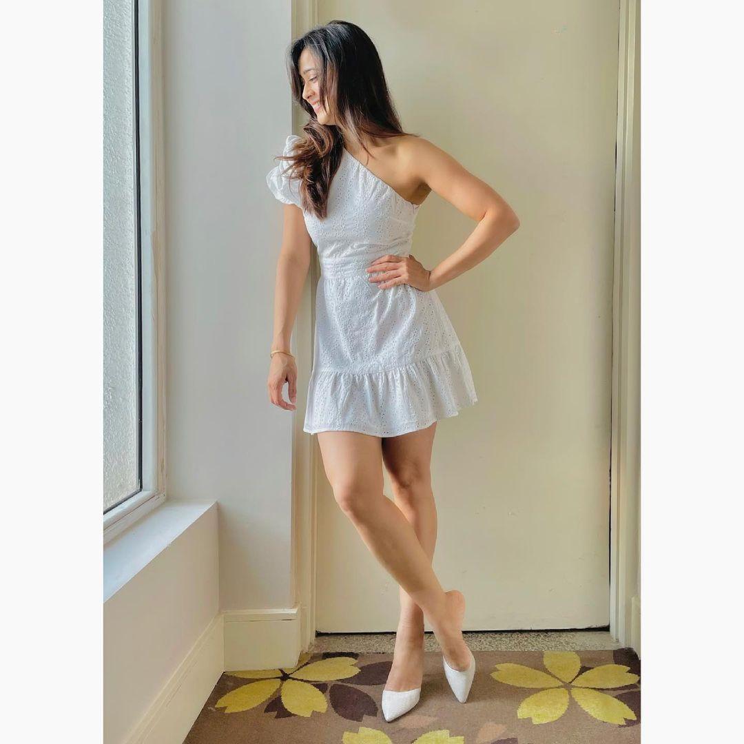 Shweta Tiwari in White Short dress
