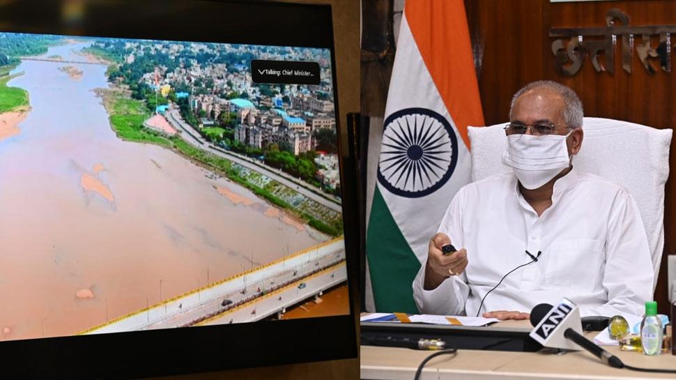 93 करोड़ से होगा अरपा नदी का उत्थान, सीएम बघेल ने किया सौंदर्यीकरण के काम का उद्धाटन