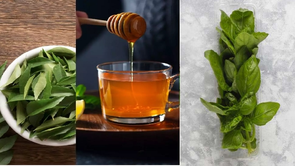 Use immunity boost, curry leaves, honey and tulsi leaves in a natural way