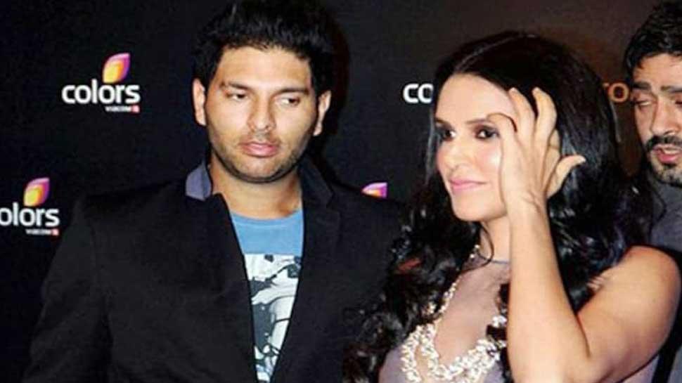 Yuvraj Singh and Neha Dhupia