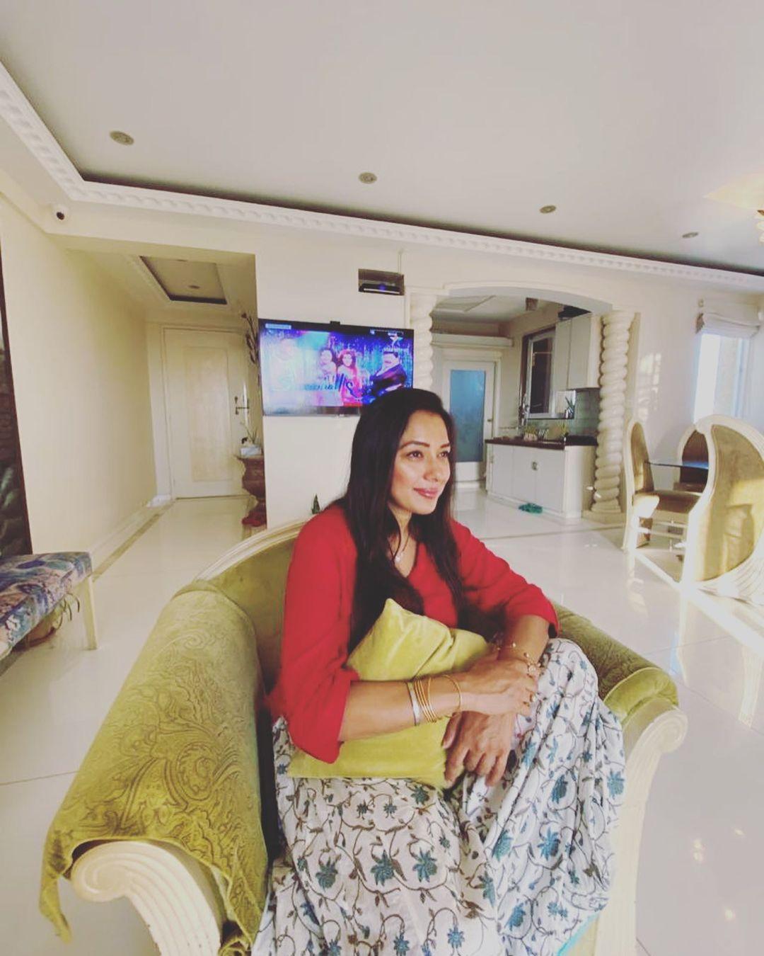 Rupali Ganguly living area