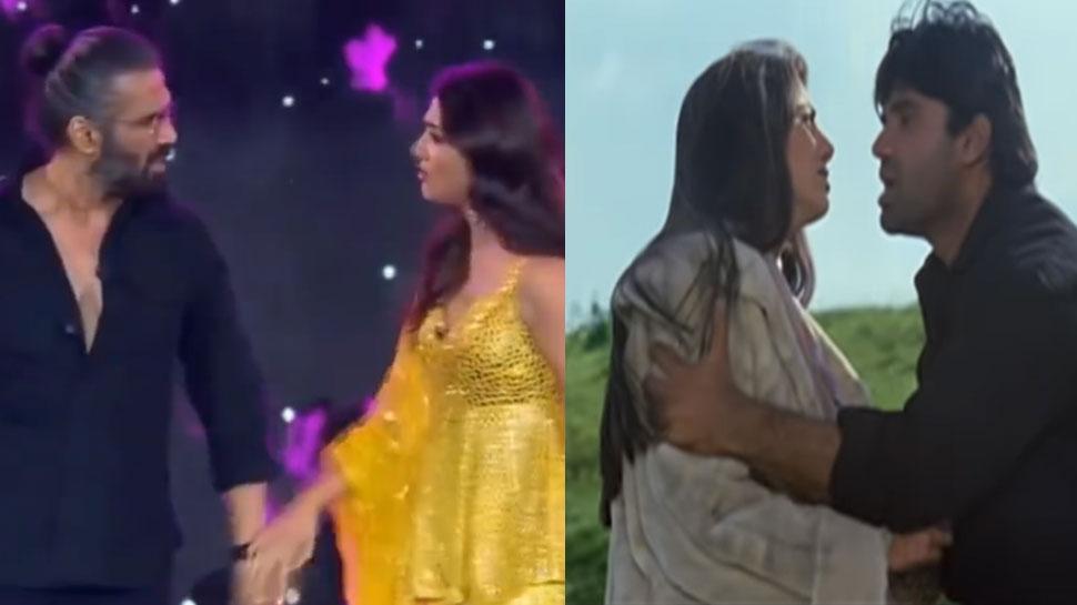 Suniel Shetty sang Shilpa Shetty dance to 'Dhadan' song, emotional star