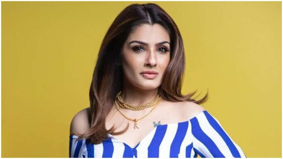 Raveena Tandon seen digging soil from shovel, going to village to clean up