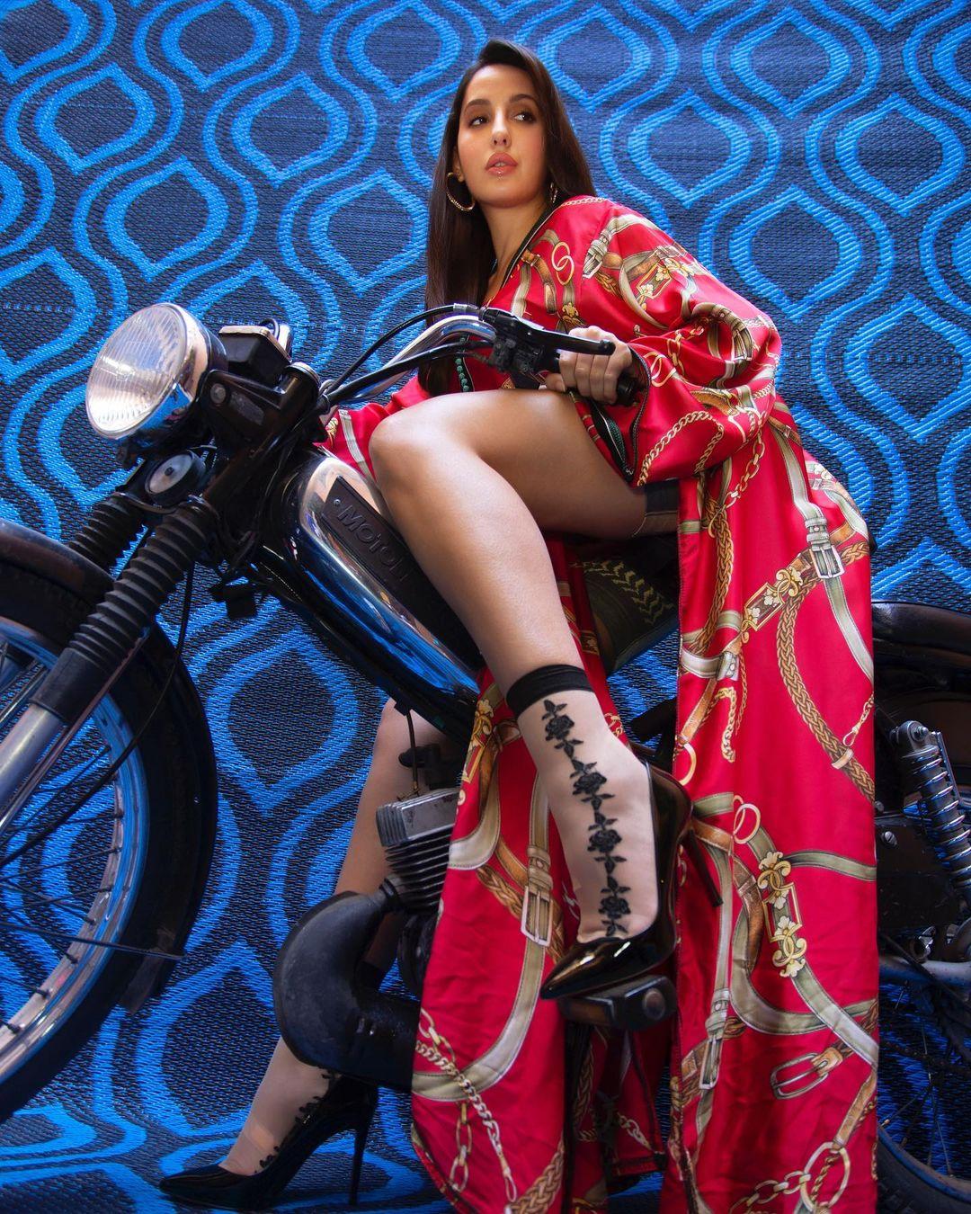 Nora Fatehi poses for international photoshoot