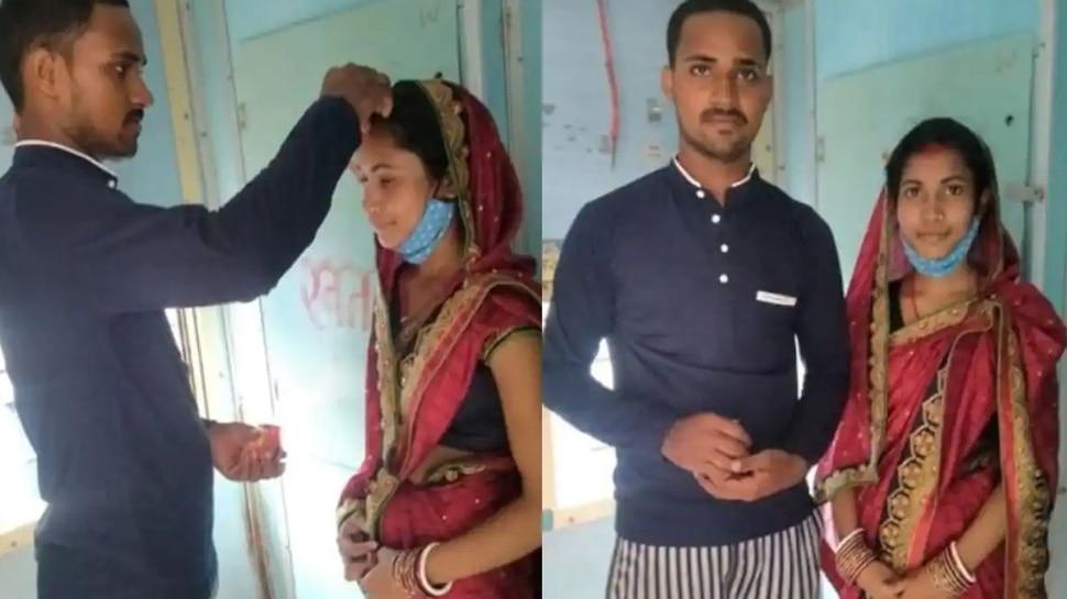 Bihar: Married woman marries lover in front of toilet in moving train,  pictures going viral | Bihar: शादीशुदा महिला ने चलती ट्रेन में टॉयलेट के सामने  रचाई प्रेमी से शादी, वायरल हो