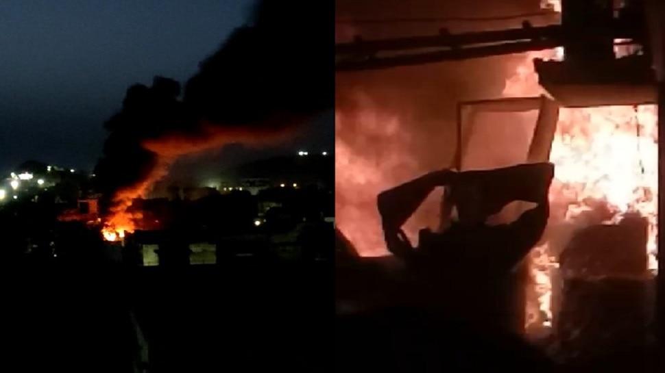Jhunjhunu में इलेक्ट्रॉनिक्स कारोबारी के घर लगी आग, काफी सामान जलकर हुआ राख