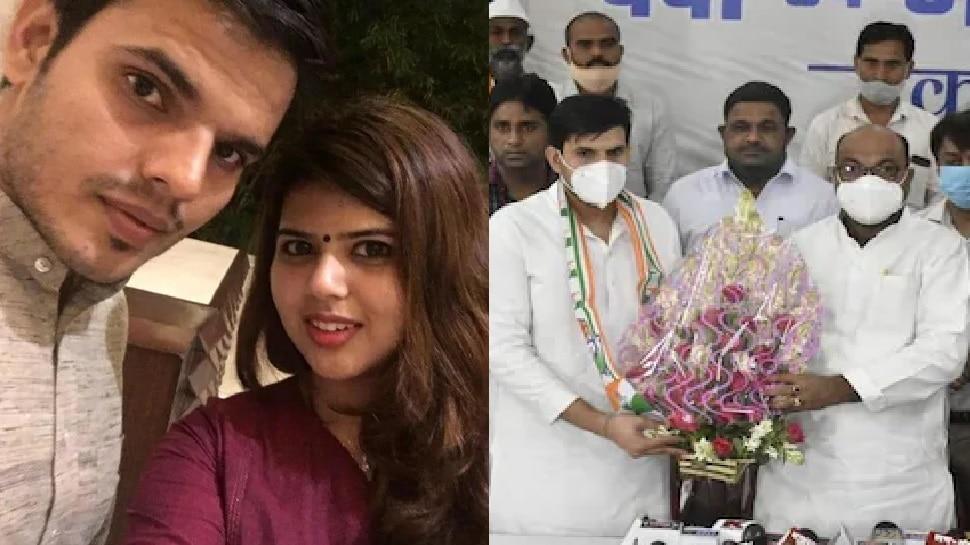 कांग्रेस में शामिल हुए अनिल यादव, पत्नी पंखुड़ी पर अभद्र टिप्पणी से आहत होकर छोड़ी थी सपा