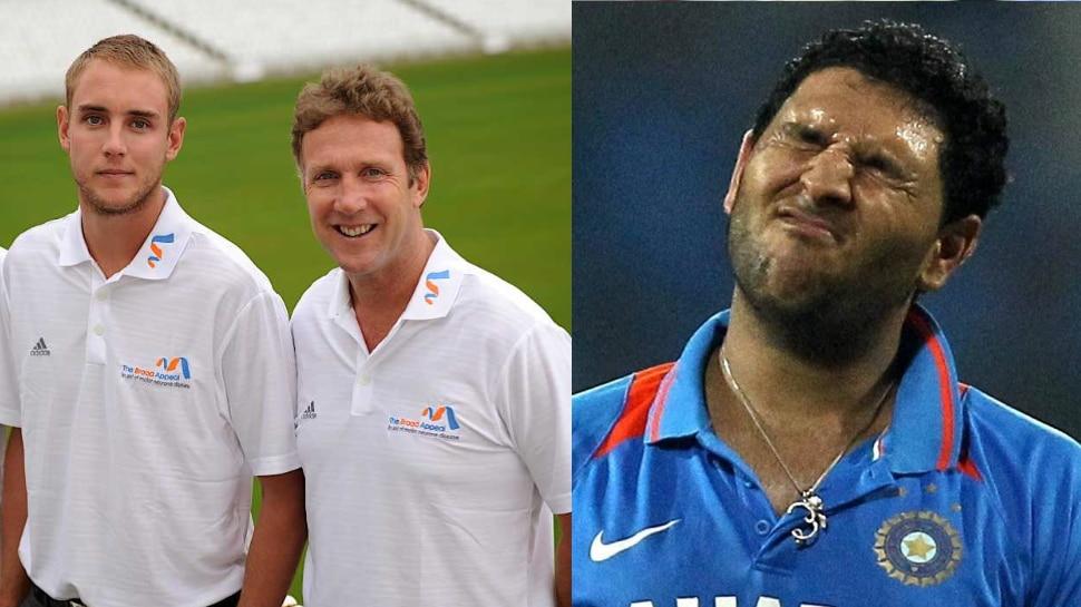 Stuart broad के पिता Chris Broad ने Yuvraj Singh से कहा था 'मेरे बेटे का करियर लगभग खत्म करने के लिए शुक्रिया'