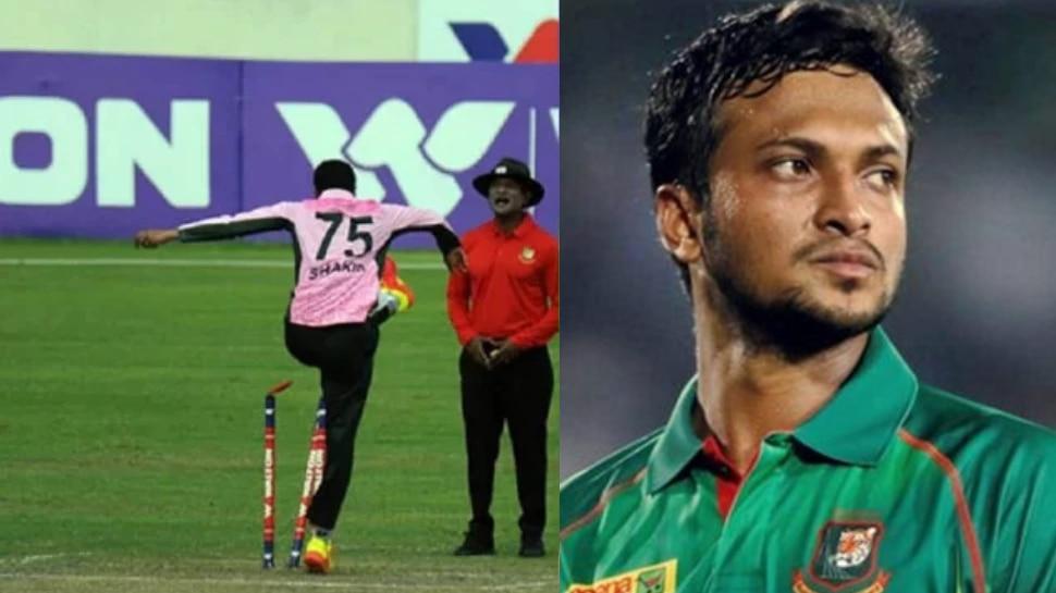 मैच में बदतमीजी करने के बाद Shakib Al Hasan पर लगा 3 मैच का बैन, देना होगा 5 लाख जर्माना