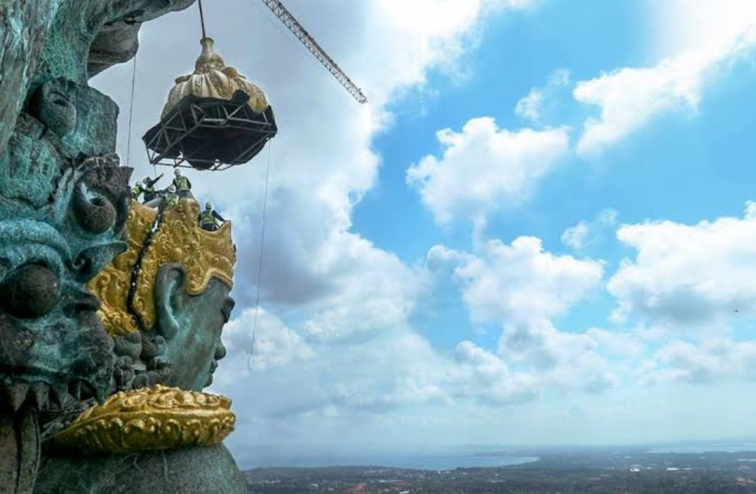 Worlds largest statue of Lord Vishnu in Indonesia 5