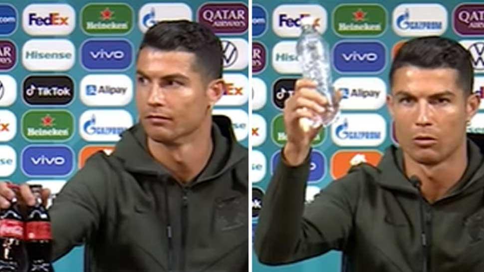 Cristiano Ronaldo ने Press Conference में Coke की बोतल से किया किनारा, बोले- 'पानी पियो'