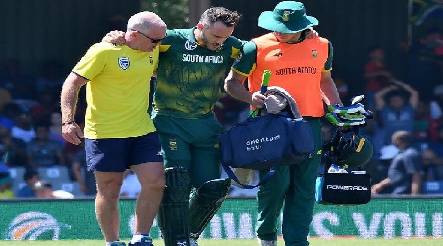 फॉफ डुप्लेसिस को सिर में लगी चोट, PSL के बाकी मैचों से हुए बाहर