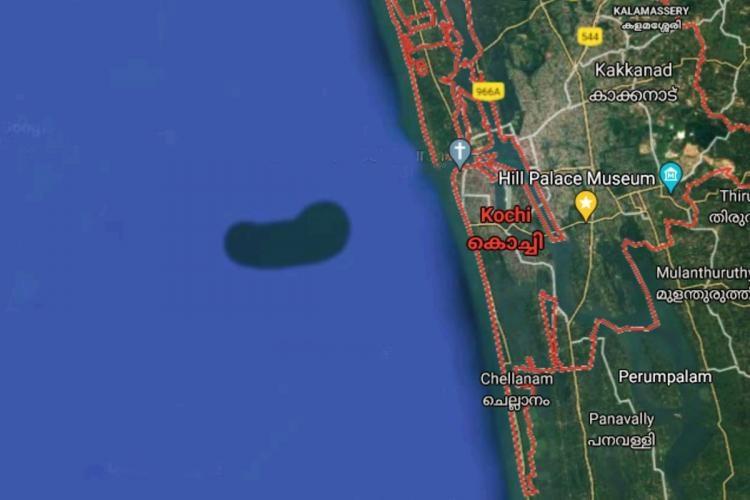 Google Maps में Kochi के करीब Arabian Sea में नजर आया Mysterious Underwater Island, अब शुरू होगी जांच
