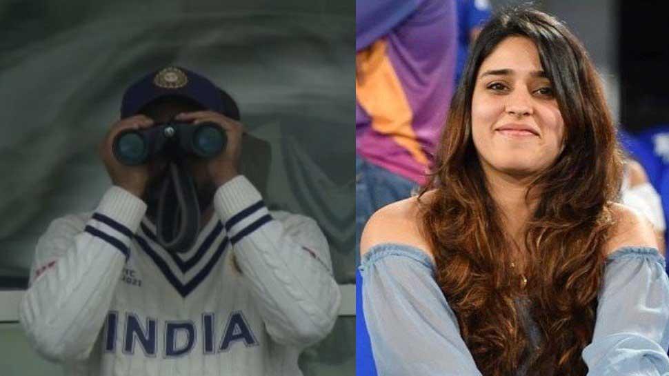 ICC WTC Final: Rohit Sharma दूरबीन से देखने लगे मैच, वाइफ Ritika Sajdeh ने यूं लिए मजे