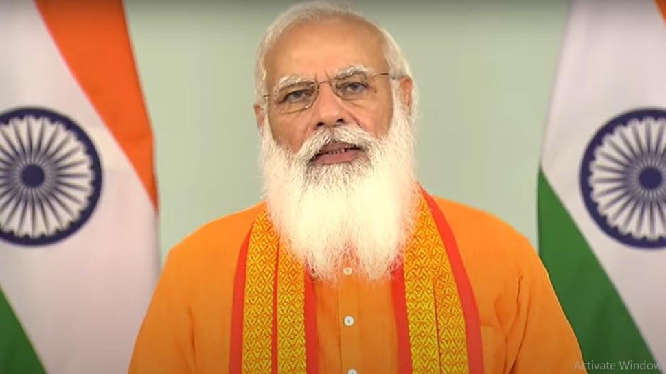 PM Narendra Modi Speech: कोरोना महामारी के इस दौर में लोगों को योग से आत्मबल मिला, यह उम्मीद की किरण बनकर उभरा