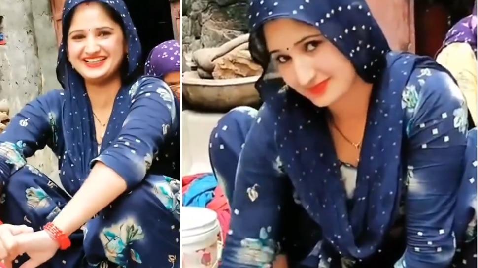 Desi Bhabhi ने उड़ाए सबके होश, कपड़े धोते वक्त यूं दी 'कातिल' स्माइल; देखें Video