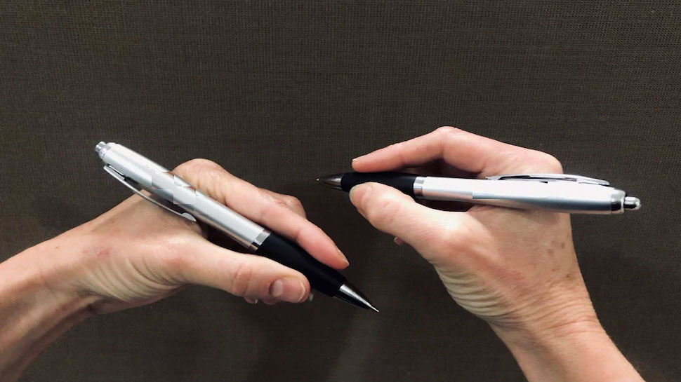 In the left-handed participants, the two halves of the brain