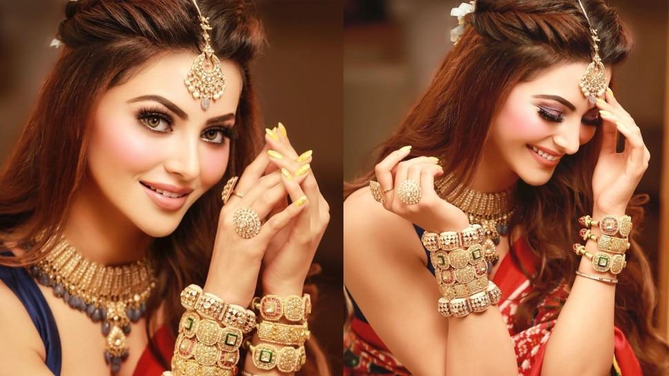 Urvashi Rautela मेहंदी के लिए दुल्हन की तरह हुईं तैयार, कहा- तेरे प्यार का रंग चढ़ा है