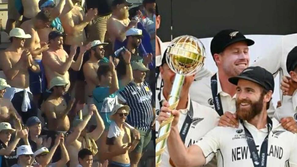 World Test Championship: न्यूजीलैंड की जीत के बाद हुआ धमाकेदार जश्न, मैदान पर ये लोग हुए Shirtless, देखें Viral Video