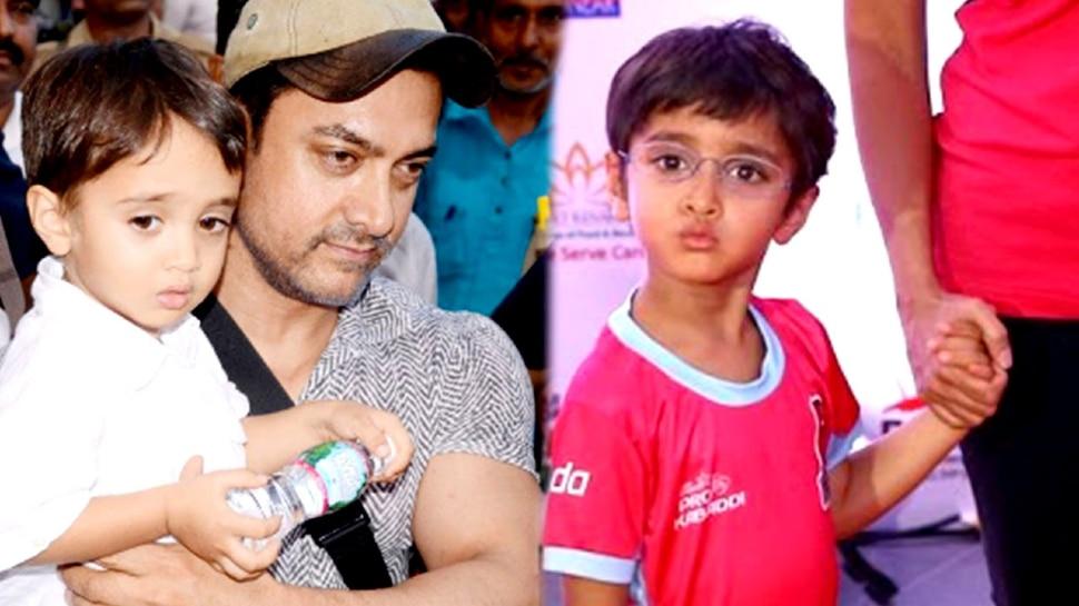 Aamir Khan का सबसे छोटा बेटा अब दिखता है ऐसा, पिता के कंधे छूने लगा है Azaad Rao Khan
