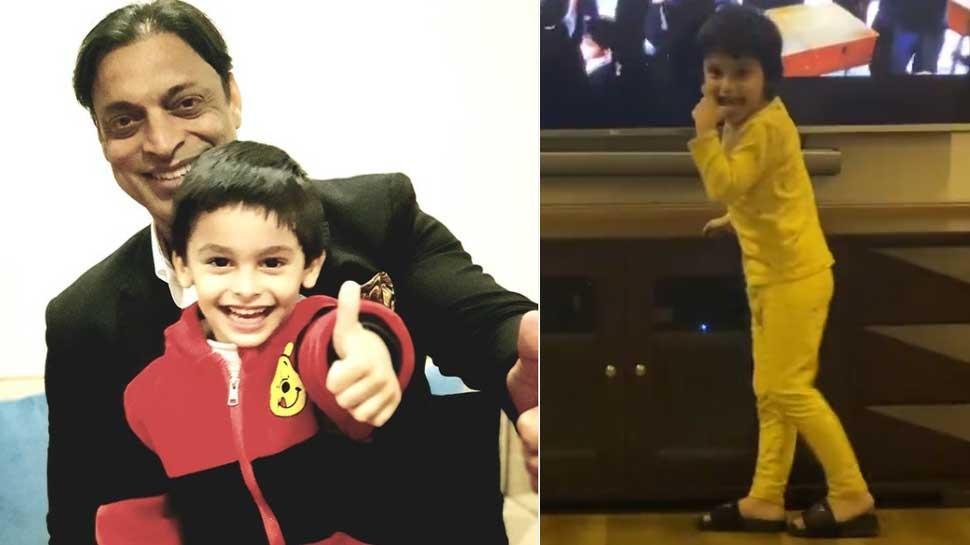 Shoaib Akhtar का नन्हा बेटा है इस Bollywood Superstar का फैन, देखिए कैसे कर रहा है डांस