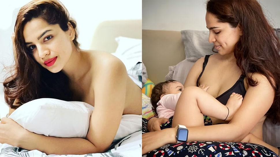 Kumkum Bhagya actress Shikha Singh goes Topless after sharing Breastfeeding Photo This is How Fans Reacted |  Shikha Singh of Kumkum Bhagya went topless, trolled for sharing breastfeeding photo