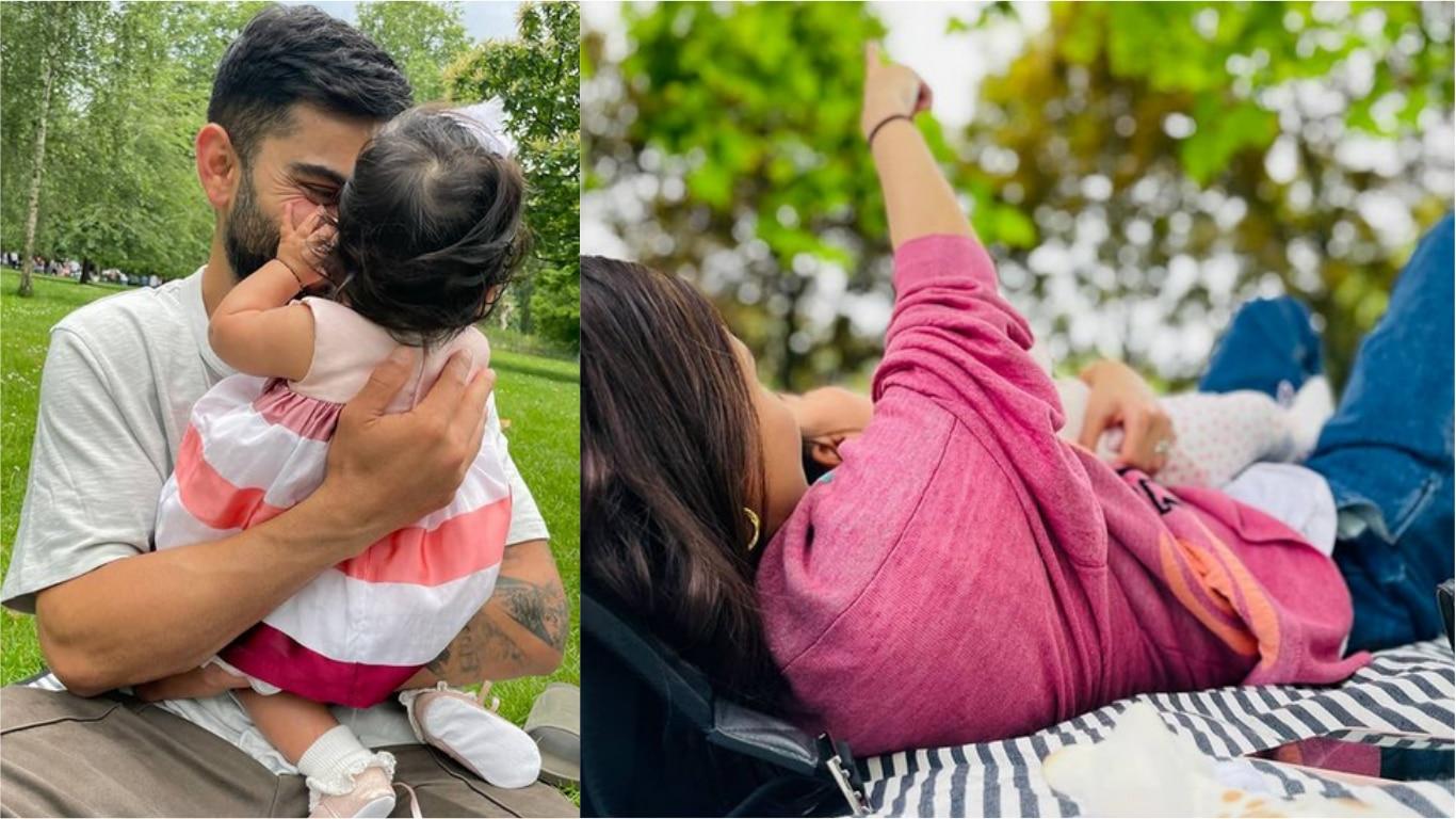 पापा विराट कोहली की गोदी में मस्ती करती नजर आईं नन्ही वामिका, अनुष्का ने शेयर की तस्वीर - ROSHNI DIN KI