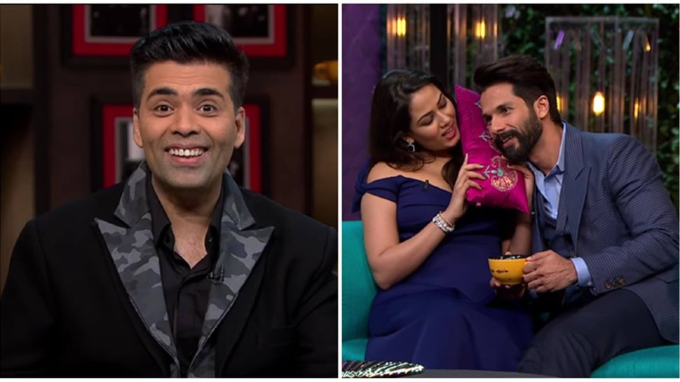 Mira Rajput Shut Karan Johar Mouth In The Coffee With Karan with her befitting reply, Shahid Kapoor Was Shocked    When Mira Rajput stopped talking about Karan Johar, Shahid Kapoor was left watching